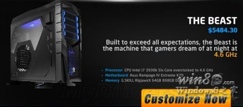 超强Win8定制PC:6核/双GTX 690/64GB内存