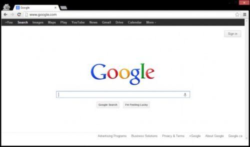 google.com_测试前的google.com主页界面