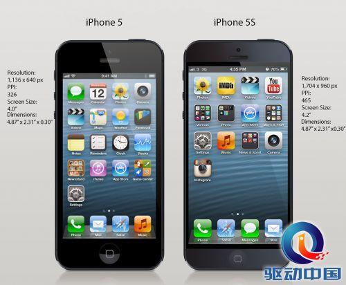 苹果5s手机内部结构图说明