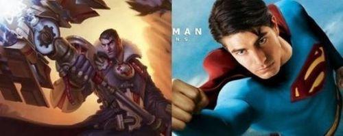 英雄联盟vs电影人物大比拼 超人化身皮城高富帅