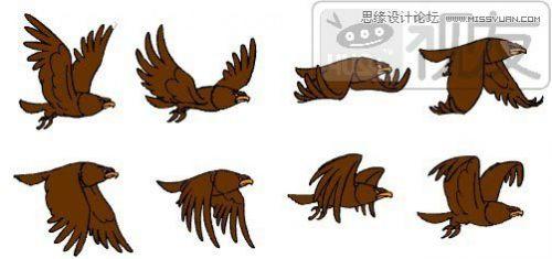 flash教程:制作卡通风格的翱翔小鸟