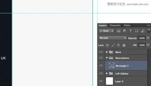 photoshop设计时尚的个人作品网页界面,ps教程,思缘教程网图片
