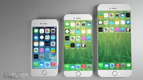 最新iphone 6概念设计:4.7寸和5.5寸两个尺寸