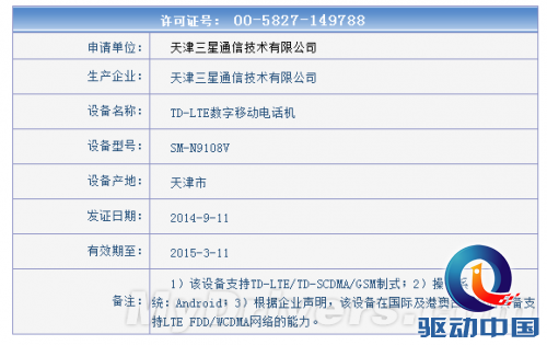 Galaxy Note 4获入网许可:四大行货版本齐降临
