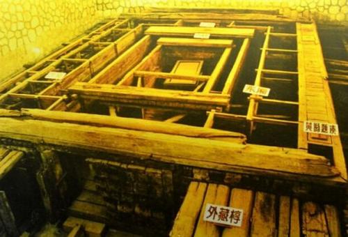 历代帝陵全档案 耗费上百立方木材的 大棺材 图