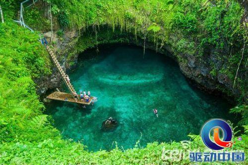 南太平洋小岛 萨摩亚火山天然水池美如仙境