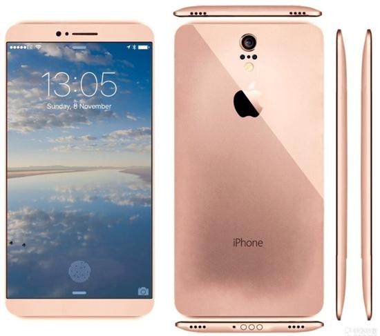 iphone 7概念设计图曝光:超窄边框取消实体按键