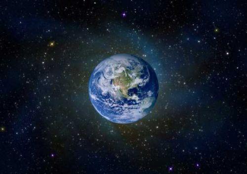 苹果地球星空壁纸_图片素材