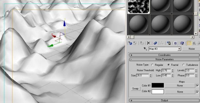 3dsmax制作山的详细步骤
