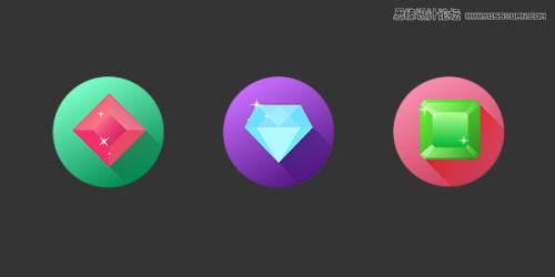 illustrator制作长投影宝石图标的详细步骤