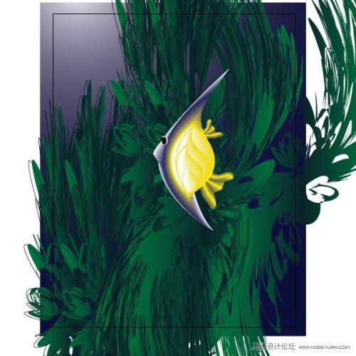 illustrator制作海底世界中的小鱼的详细步骤(3)