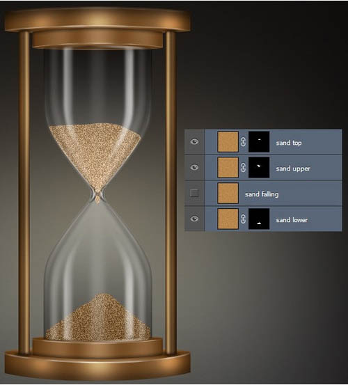 PS教程 制作古铜色时间沙漏图片的详细过程 4