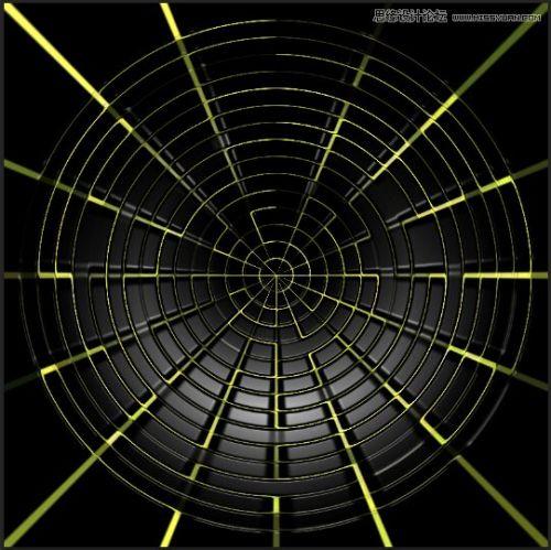 ps制作蜘蛛网造型音箱喇叭图片的详细步骤