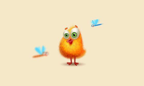 ps鼠绘卡通可爱小黄鸡图片的详细步骤