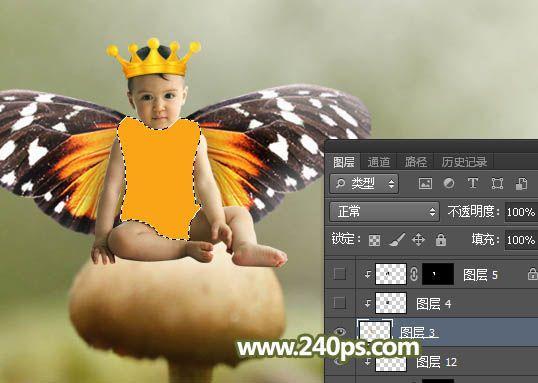 ps怎么合成幼小可爱蝴蝶天使儿童照片效果(2)