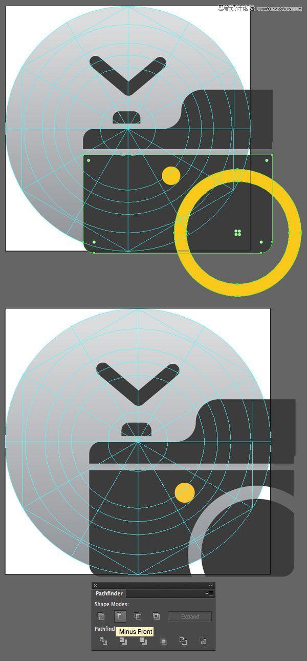 illustrator绘制扁平化风格的软件图标的详细步骤(4)