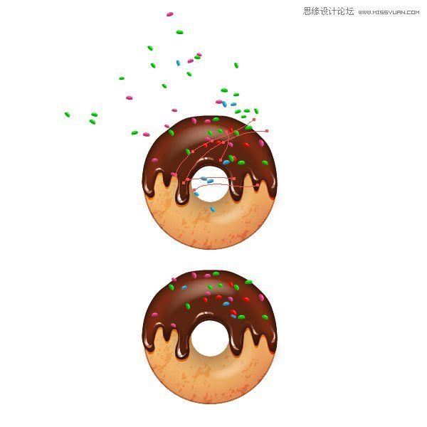 illustrator如何绘制美味诱人的甜甜圈饼干(2)