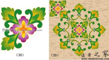 illustrator如何设计制作古典花纹图案