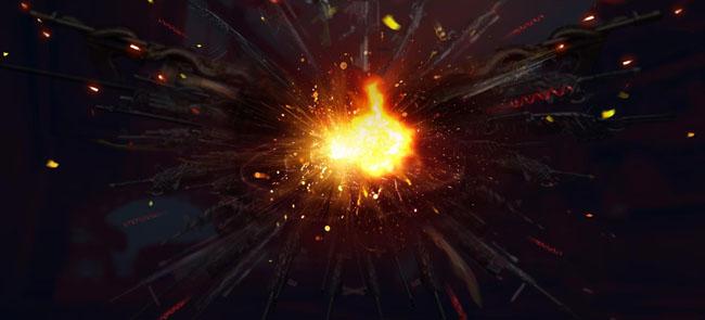 素材12放人物前,溅起的火花效果.