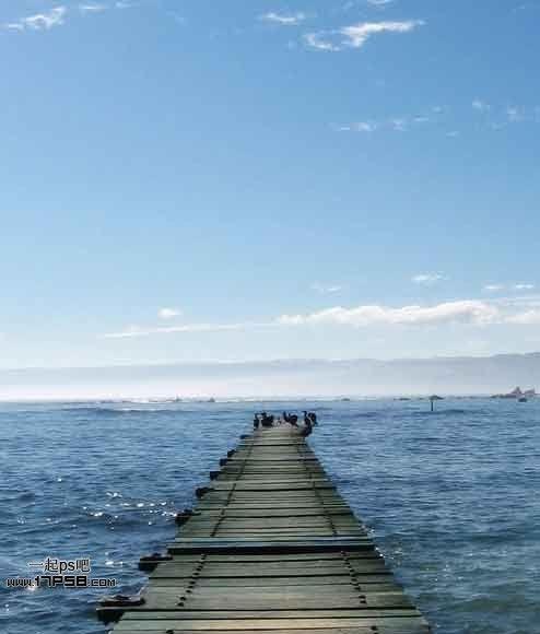 photoshop如何合成梦幻蓝色大海场景图片