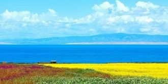 航拍:青海湖美景