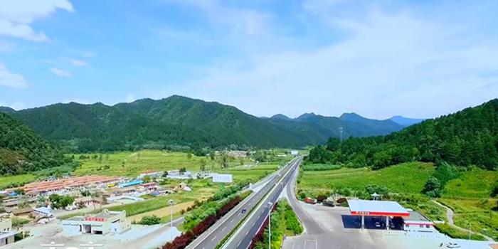 【航拍】 天水高速公路百花服务区周边美景