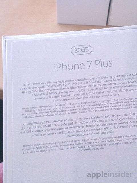 iPhone 7 Plus包装盒泄露:苹果有良心!