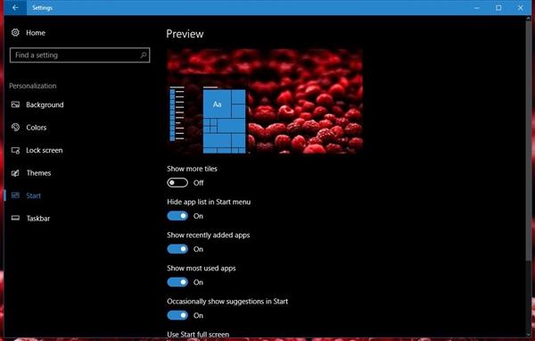 Windows 10 RS2最新截图曝光:开始菜单很Windows 7