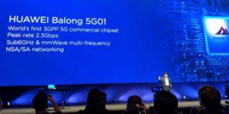 MWC 2018:华为发布全球首款5G商用芯片巴龙5G01!