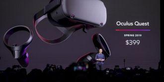 Facebook完成第一代VR硬件布局!新款VR头显Quest明年上市