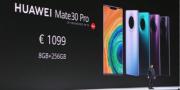 1099欧元起!超感光徕卡电影四摄影像再升级 华为Mate 30Pro正式发布