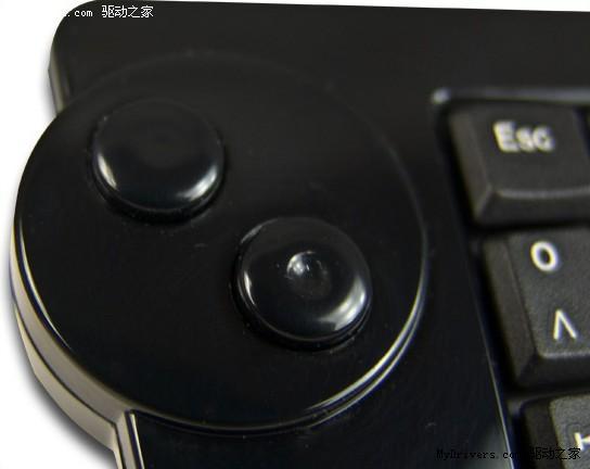 集成鼠标功能 Maxpoint推轨迹球无线键盘