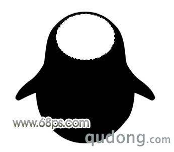 photoshop制作可爱的黑色水晶企鹅