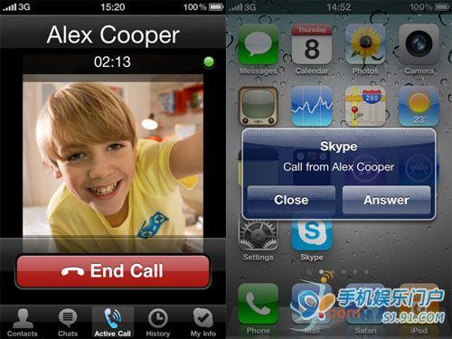 加入视频通话 iphone版skype更新