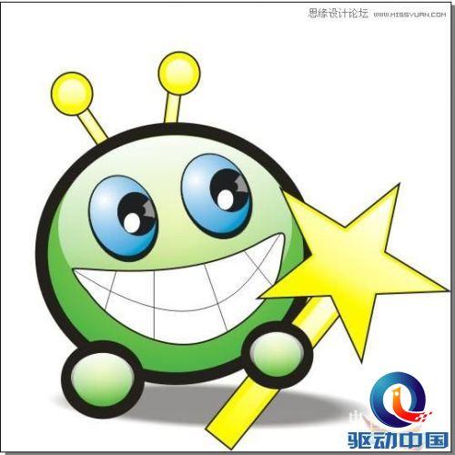 coredraw绘制大眼晴笑容的卡通表情,ps教程,思缘教程网