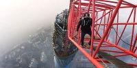 (高清组图) 世界级俄国攀高狂人 翻入上海中心工地 攀爬高度650米