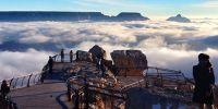 """美国科罗拉多大峡谷 惊现""""云海""""奇观"""