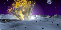 天文学家观测到陨石撞月球 形成40米大坑