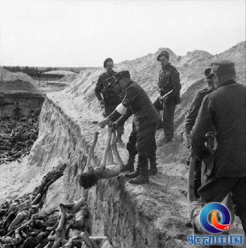 纳粹集中营集体埋尸体:惨绝人寰的贝尔根集中营
