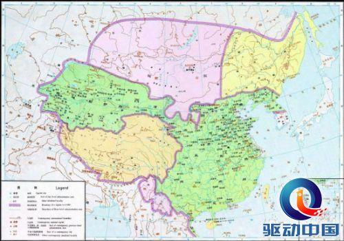 西汉疆域地图