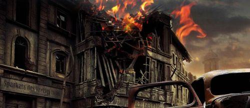 用ps怎么合成硝烟弥漫的城市战争场景图片(2)