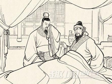 三国刘备手绘彩图