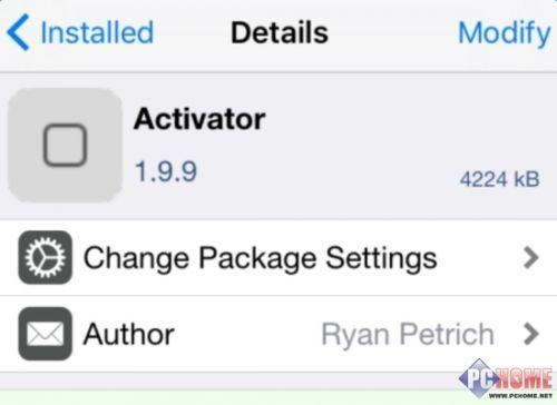iOS9.3.3越狱兼容插件:Activator最具人气手势插件