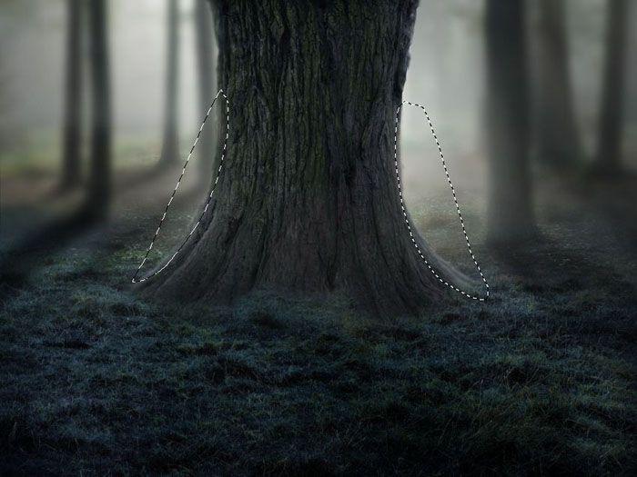 ps合成恐怖奇幻森林场景照片的详细步骤(2)