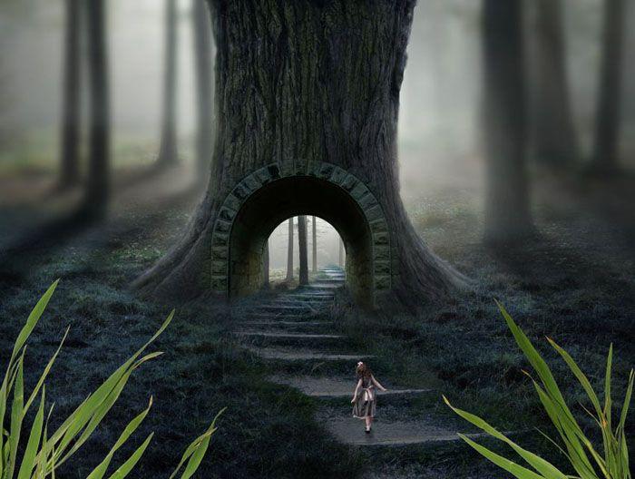 ps合成恐怖奇幻森林场景照片的详细步骤(3)