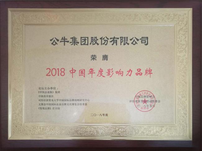 """彰显品牌力量!公牛斩获""""2018中国年度影响力品牌""""大奖"""