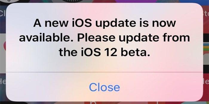 iOS12截至目前最烦人的弹窗更新提醒bug怎么处理?