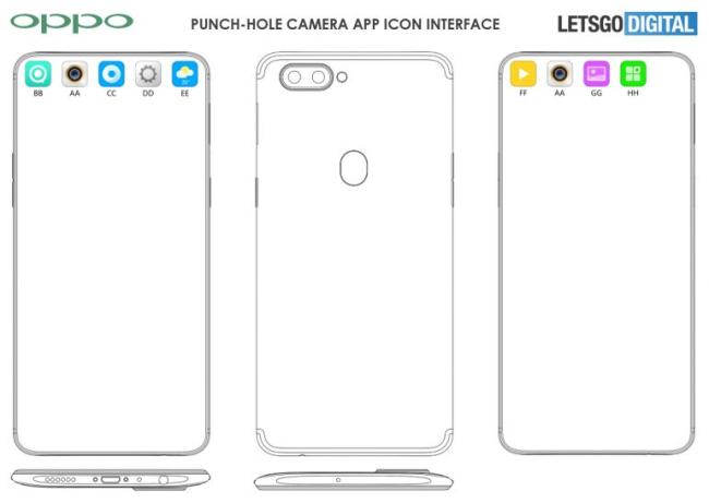 OPPO将要推出挖孔屏设计的全面屏手机