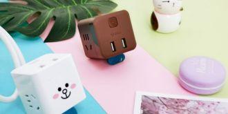 颜控不淡定了!公牛LINE FRIENDS小魔方USB插座敲可爱