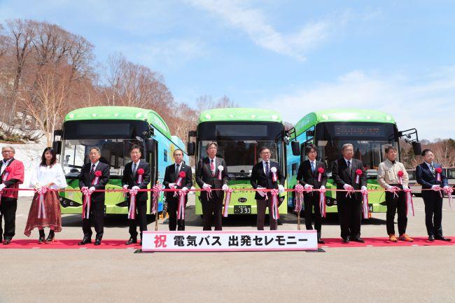01 尾濑国立公园比亚迪纯电动巴士运营开通仪式